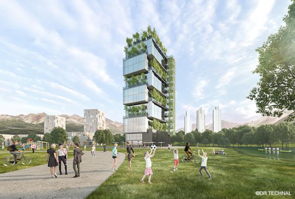 Nouveauté façade: TENTAL, le mur rideau éco-conçu et bas carbone de TECHNAL